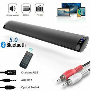 Bluetooth Soundbar TV HiFi Stereo Subwoofer Heimkino Lautsprecher Fernbedienung