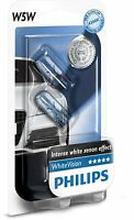 Philips Standlicht  White Blue Vision Xenon-Effekt W5W Autolampe Doppelblister