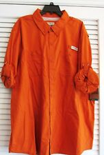 PADRE ISLAND FISHING SHIRT L/S RUST 4XL  (8)