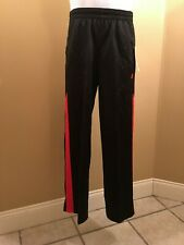 Starter Boy's Athletic Tricot Pants Activewear Bottoms. Black/Red