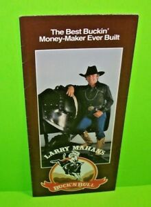 LARRY MAHAN Buck'n Bull Original Sales Flyer Poster Bucking Bull Riding Mahan's