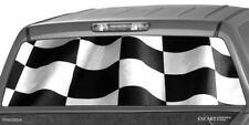CHECKERED FLAG RACING Rear Window Graphic Decal Tint Sticker Truck suv ute WRAP