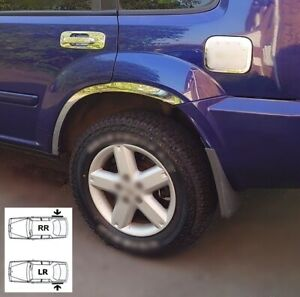 Wheel Arch Fender Trims Chrome Rear 2 pcs for Nissan X-Trail T30 Left Right Wing