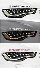 FOR PEUGEOT SPORT - 2 x VINYL CAR DECAL STICKER ADHESIVE 106 206  - 300mm long
