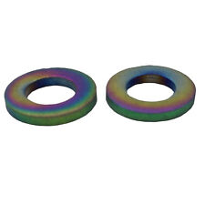 2 Pieces M6 Rainbow Titanium M6 Flat Bolt Washer Bicyle BMX Bike MTB Ti-6Al-4V