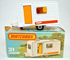 Matchbox SF Nr.31C Caravan weiß orange Tür neuwertig in Box