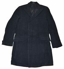 Polo Ralph Lauren Doulbe RL RRL Mens Overcoat Trench Wool Dress Jacket Gray L