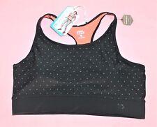 mb Brand Black Dot High Neck Crop Sportswear Top Size 16 BNWT #TB35