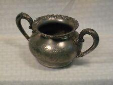 Antique Van Bergh Silver Plate / Suger Bowl / # 468