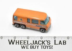 GMC Motor Home Orange Flying Colors Blackwall 1976 Hot Wheels Mattel Vintage