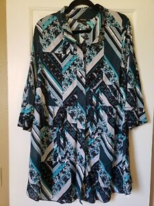 Style And Co Long Sleeve Floral Top Plus Size 3X