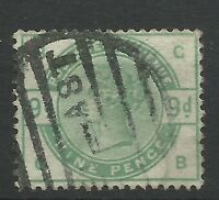 1883 Sg 195, 9d Green, (GB) Fine used.