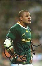 South Africa & Wasps Rugby Union: Juan De Jongh Signed 6x4 Action Photo+Coa