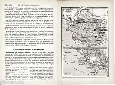 Dubrovnik 1937 kl. Stadtplan + frz. Reisef. (7 S) Hrvatska Gruž Lapad Vrbica