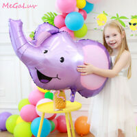 Jungle Animal Head Foil Balloon Tiger Lion Elephant Children Toy Party Decor HON