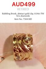 GENUINE PANDORA 14K GOLD CLIP CHARM WITH DIAMOND, 750418D