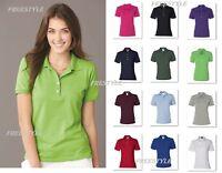 Jerzees Women's Spotshield 50/50 Short Sleeve Sport Polo T-Shirt 437WR-437W SALE