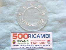 FIAT 500 F/R VETRO CONTACHILOMETRI FONDINO SCALA 120 Km/h TACHIMETRO CRUSCOTTO