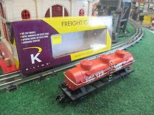 K-LINE S GAUGE K511-014 HOOKER CHEMICAL TRIPLE DOME TANK CAR NEW IN ORIGINAL BOX