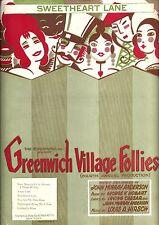 """Louis A. Hirsch """"GREENWICH VILLAGE FOLLIES"""" John Murray Anderson '22 Sheet Music"""
