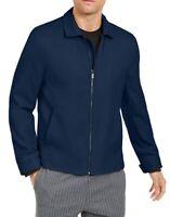 Alfani Mens Jacket Navy Blue Size Large L Full-Zip Lined Pockets $139 #116
