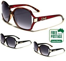 Giselle Womens Sunglasses - Stylish Butterfly Frame - Vintage Oval Designer Lens