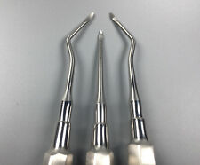 3 Pieces Dental Straight Surgery Extraction Root Tip Apical Elevator