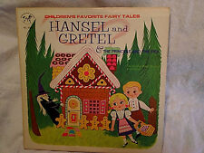 1960's HANSEL AND GRETEL,Princess And The Pea,LP rocking horse label 5051,witch