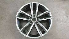 "1x ORIGINALI VW PASSAT b8 18 pollici Dartford Grey R-Line ""COME NUOVO"""