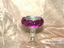 Cat Eye Plastic Lucite Bangle Bracelet Vintage In Style Deep Purple Woven