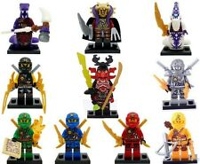 Lot mini figurines Ninja Ninjago Général Kozu 4 bras serpent Pythor,ZaneTitane