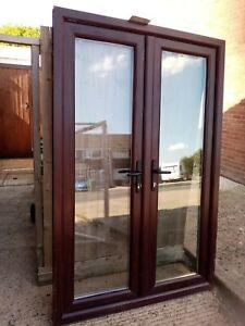 Upvc rosewood french doors