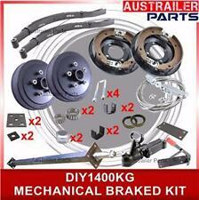 DIY 1400kg Mechanical Brake single Axle Trailer Kit with slipper springs