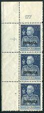1925 Colonie italiane Cirenaica lira 1 Giubileo numero tavola  177 ** striscia