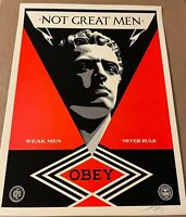 Shepard Fairey Not Great Men Obey Giant Art Print Poster