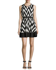 NWT Romeo & Juliet Couture-ZigZag Black and White Flare Skate Dress/ Medium