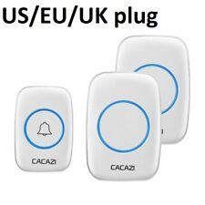 Wireless Door Ring Bluetooth Battery Bell Remote Waterproof Outside Led Smart US