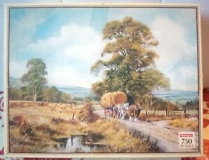 Waddingtons Harvesting Don Vaughan 750 Jigsaw Puzzle Complete Farm Hay Art Horse
