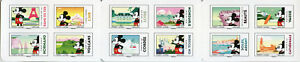 France 2018 MNH Mickey Mouse 12v S/A Booklet Disney Eiffel Tower Tourism Stamps