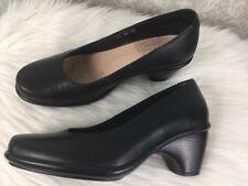 Dansko Remy Pumps Sz 37 6.5-7 Black Leather Low Heel