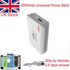 6000mah USB External Power Bank Battery Charger for Mobile PHONES White
