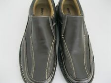 MENS GRAPHITE SHOCK ABSORPTION BROWN LOAFERS, SIZE 11M, FREE US SHIPPING