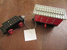 LEGO Eisenbahn alt 4,5V Motor +  Batteriewaggon + Lokräder + Kabel getestet 9