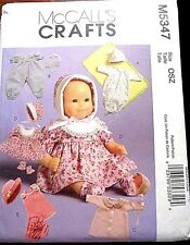 McCALL'S CRAFTS BABY DOLL CLOTHES IN TWO SIZES - UNCUT PATTERN M5347