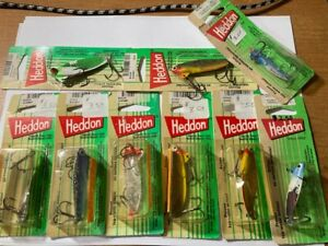 9 Vintage New HEDDON FISHING LURES 431 & 433 SONAR Blade Baits SPOONS 1995