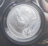 Süd Afrika 1 Oz Silber Nashorn 2020 Big Five Blisterkarte nur 15.000 Stück !