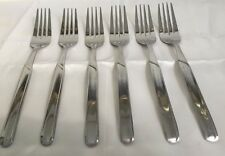 6 Pieces Cambridge Stainless Steel Dinner Forks Flatware China GUC