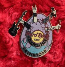 Hard Rock Cafe Pin MINNEAPOLIS EASTER egg band guitar mic tattoo purple flame le