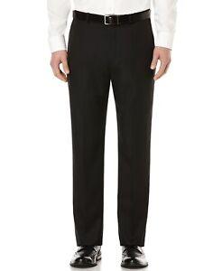 Perry Ellis Portfolio Modern-Fit Performance Stretch Dress Pants Black 42x30 NEW