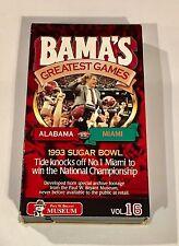 Bama's Greatest Games Volume 16: Alabama vs Miami 1993 Sugar Bowl  (VHS, 1996)